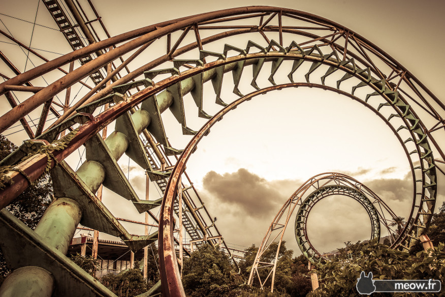 abandoned roller coasters