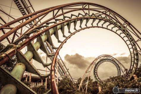 old roller coaster