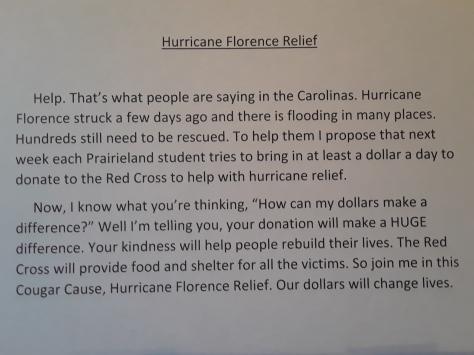 HurricaneReliefEffortSeptember 2018